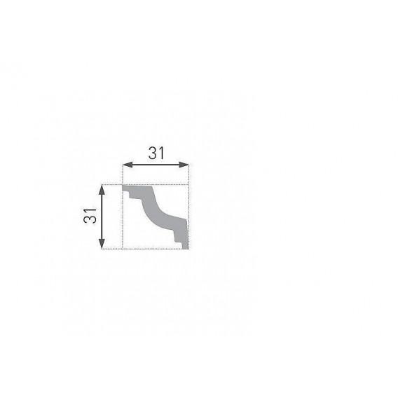 Polystyrénová stropná lišta PE-28 2m(30x30mm)