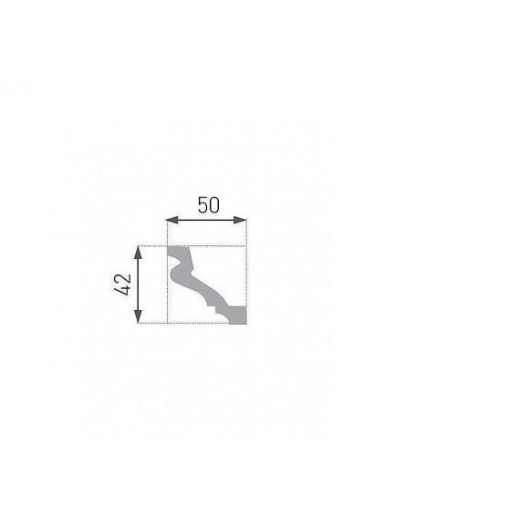 Polystyrenová stropní lišta PE-31 2m (50x42mm)