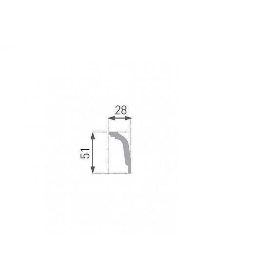 Polystyrenová stropní lišta PE-32 2m (28x51mm)