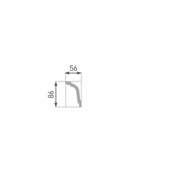 Polystyrénová stropná lišta PE-33 2m(56x86mm)