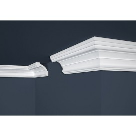 Polystyrénová stropná lišta PE-34 2m(80x80mm)