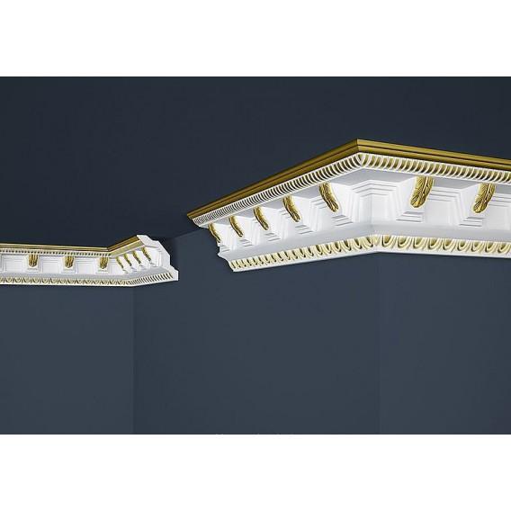 Pozlacená polystyrenová stropní lišta PB-23G 2m (70x71mm)