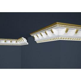 Pozlátená polystyrénová stropná lišta PB-23G 2m(70x71mm)