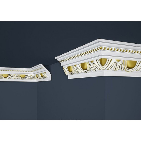 Pozlacená polystyrenová stropní lišta PB-24G 2m (70x90mm)
