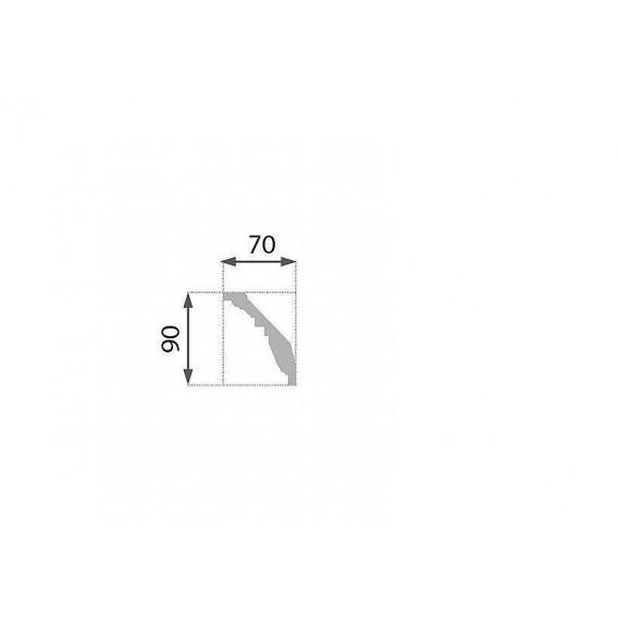 Pozlátená polystyrénová stropná lišta PB-24G 2m(70x90mm)