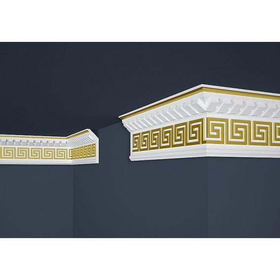 Pozlacená polystyrenová stropní lišta PB-25G 2m (37x100mm)