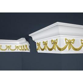 Pozlacená polystyrenová stropní lišta PB-29g 2m (91x156mm)