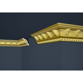 Zlatá polystyrénová stropná lišta PB-23SG 2m(70x71mm)