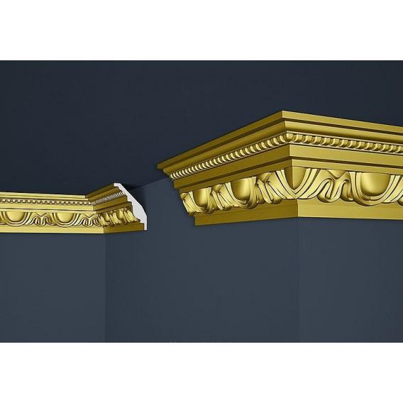 Zlatá polystyrénová stropná lišta PB-24SG 2m(70x90mm)