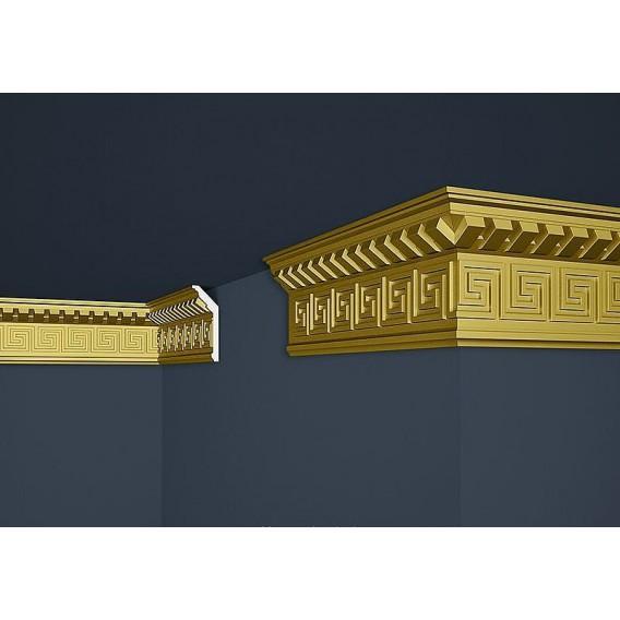Zlatá polystyrenová stropní lišta PB-25SG 2m (37x100mm)