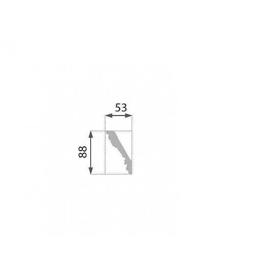 Zlatá polystyrénová stropná lišta PB-26SG 2m(53x88mm)