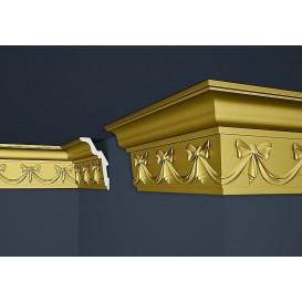 Zlatá polystyrenová stropní lišta PB-29SG 2m (91x156mm)