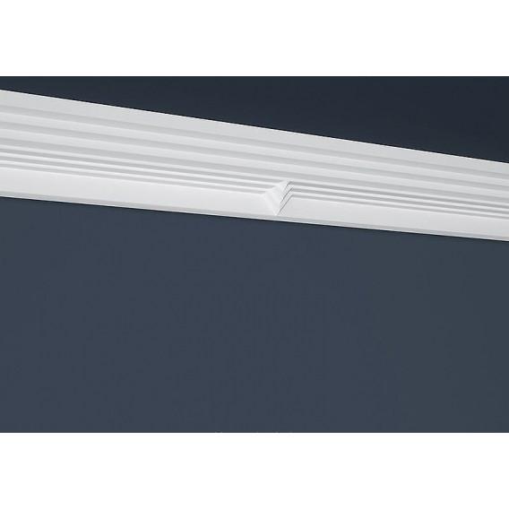Moderná polystyrénová stropná lišta PB-38 2m(70x136mm)