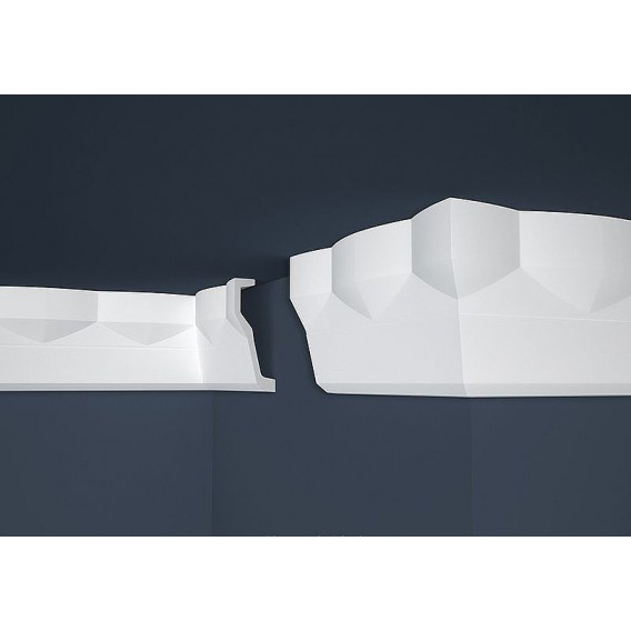 Moderní polystyrenová stropní lišta PB-40 2m (70x180mm)