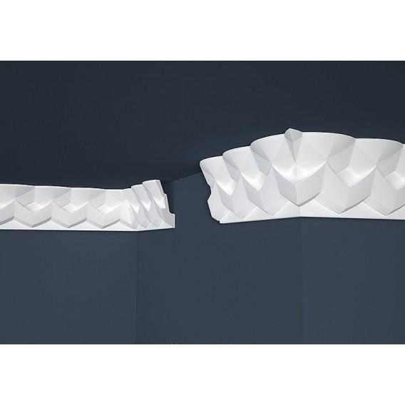 Moderná polystyrénová stropná lišta PB-41 2m(47x121mm)