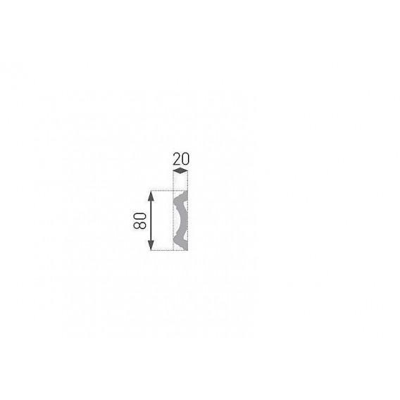 Polystyrénová nástenná lišta PE-30 2m(20x80mm)