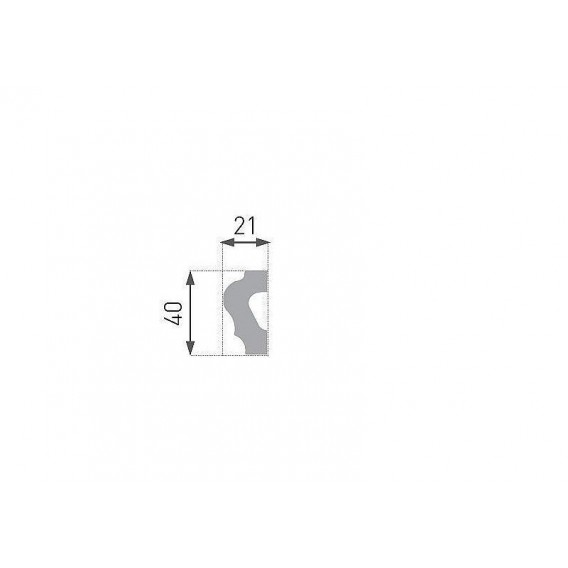 Polystyrénový rohovník PNE-19-01 4ks (220x220mm) k liště PE-19