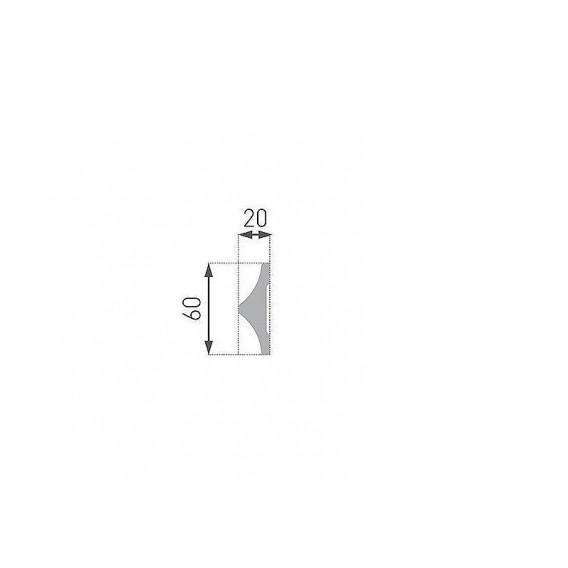 Polystyrénová nástenná lišta PB-42 2m(20x60mm)