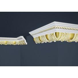 Pozlátená polystyrénová stropná lišta PB-34G 2m(70x90mm)