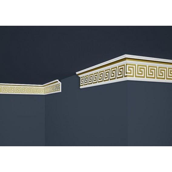 Pozlacená polystyrenová stropní lišta PB-21G 2m (28x73mm)