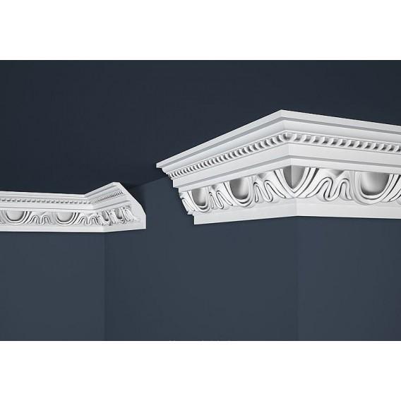 Postříbřená polystyrenová stropní lišta PB-24S 2m (70x90mm)
