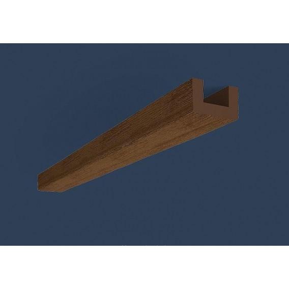 Rustikálny polyuretánový trám tmavý 4m(6x9cm)
