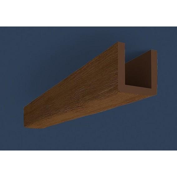 Rustikálny polyuretánový trám tmavý 3m(12x12cm)