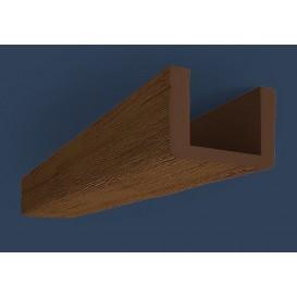 Rustikálny polyuretánový trám tmavý 3m(13x20cm)