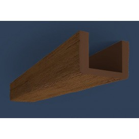 Rustikálny polyuretánový trám tmavý 4m(13x20cm)
