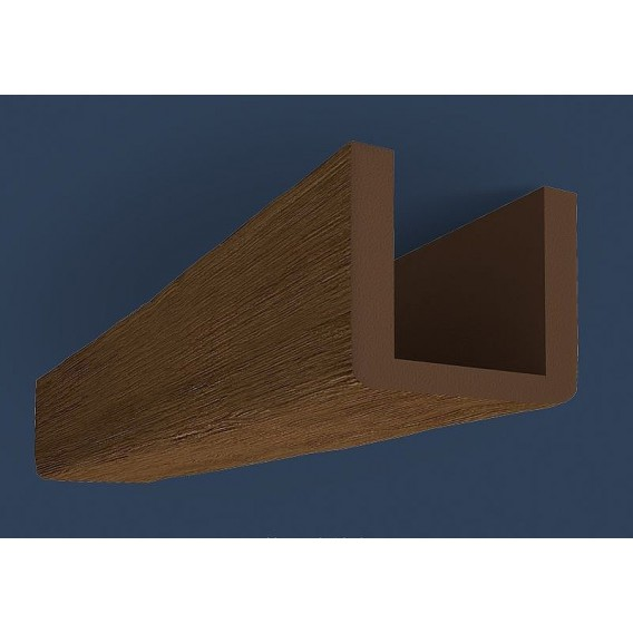 Rustikálny polyuretánový trám tmavý 4m(17x19cm)