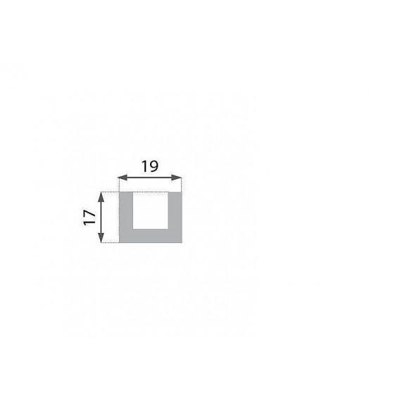 Rustikální polyuretanový trám světlý 4m (17x19cm)