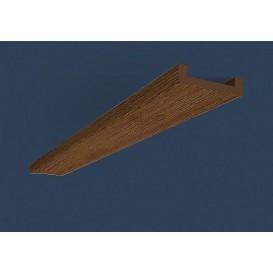 Rustikální polyuretanová deska tmavá 2,6m (13,5x2cm)