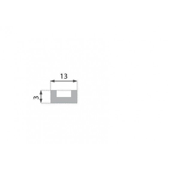 Rustikálna polyuretánová doska tmavá 2,6m(13,5x2cm)