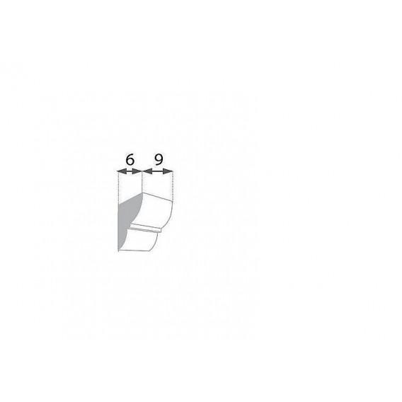 Rustikální polyuretanová konzola tmavá 6x9cm