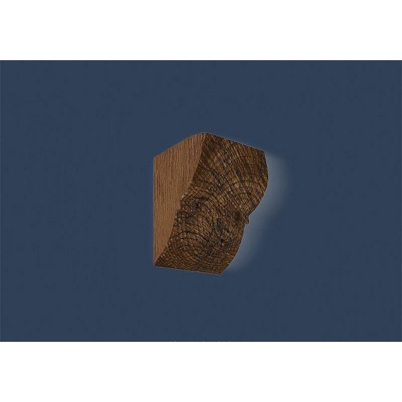 Rustikální polyuretanová konzola tmavá 9x12cm