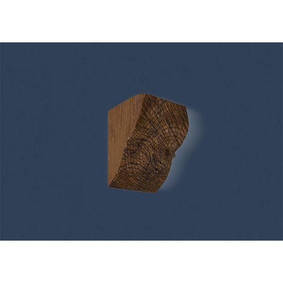 Rustikálna polyuretánová konzola tmavá 17x19cm