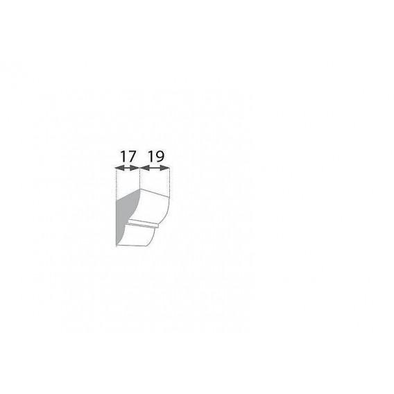 Rustikální polyuretanová konzola tmavá 17x19cm
