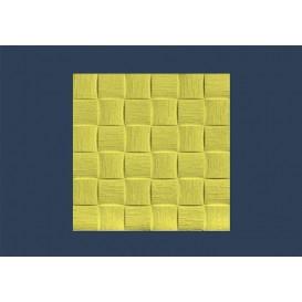 Polystyrénová stropná kazeta Len žltý 10mm-1m2