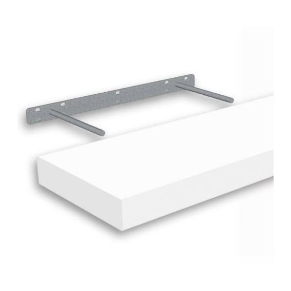 Samonosná police bílá 118,5x23,5cm