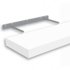 Samonosná polica biela 118,5x23,5cm