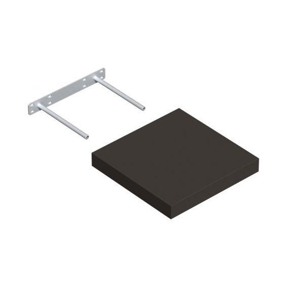 Samonosná polica šedá 23,5x23,5cm