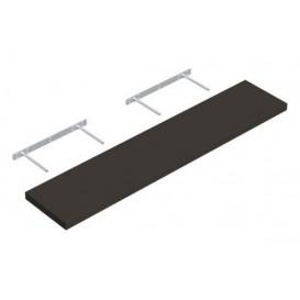 Samonosná police šedá 118,5x23,5cm