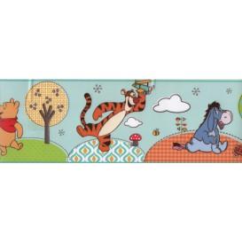Samolepiaca bordúra Macko Pooh modrá Bos0020 10,6cmx5m