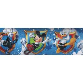 Samolepiaca bordúra Mickey Mouse modrá  Bos0024 10,6cmx5m