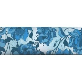 Samolepiaca bordúra Modré kvety BO5013 10,6cmx5m