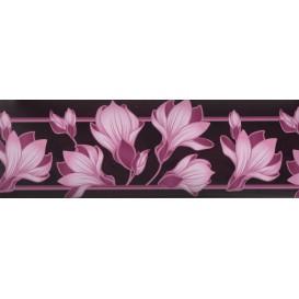 Samolepiaca bordúra Fialové kvety BO5016 10,6cmx5m