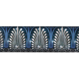 Samolepiaca bordúra Modro biely ornament BO0076 10,6cmx5m