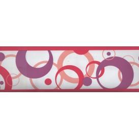Samolepiaca bordúra Ružové kruhy BO5019 10,6cmx5m