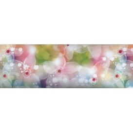 Samolepiaca bordúra Akvarelové kvety  BO0073 10,6cmx5m