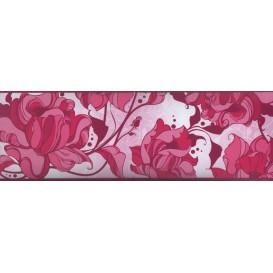 Samolepiaca bordúra Magenta kvety BO5014 10,6cmx5m